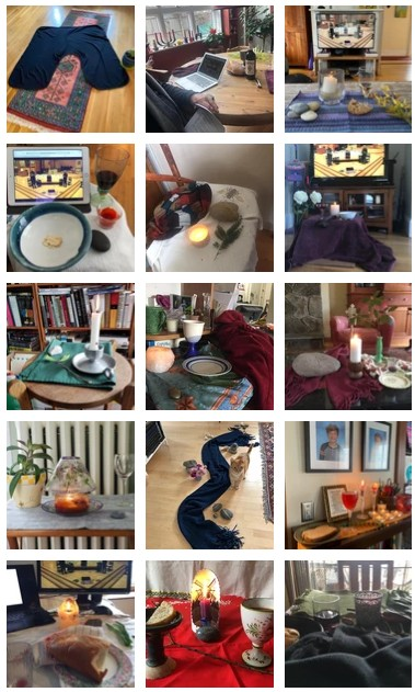 collage of home altars