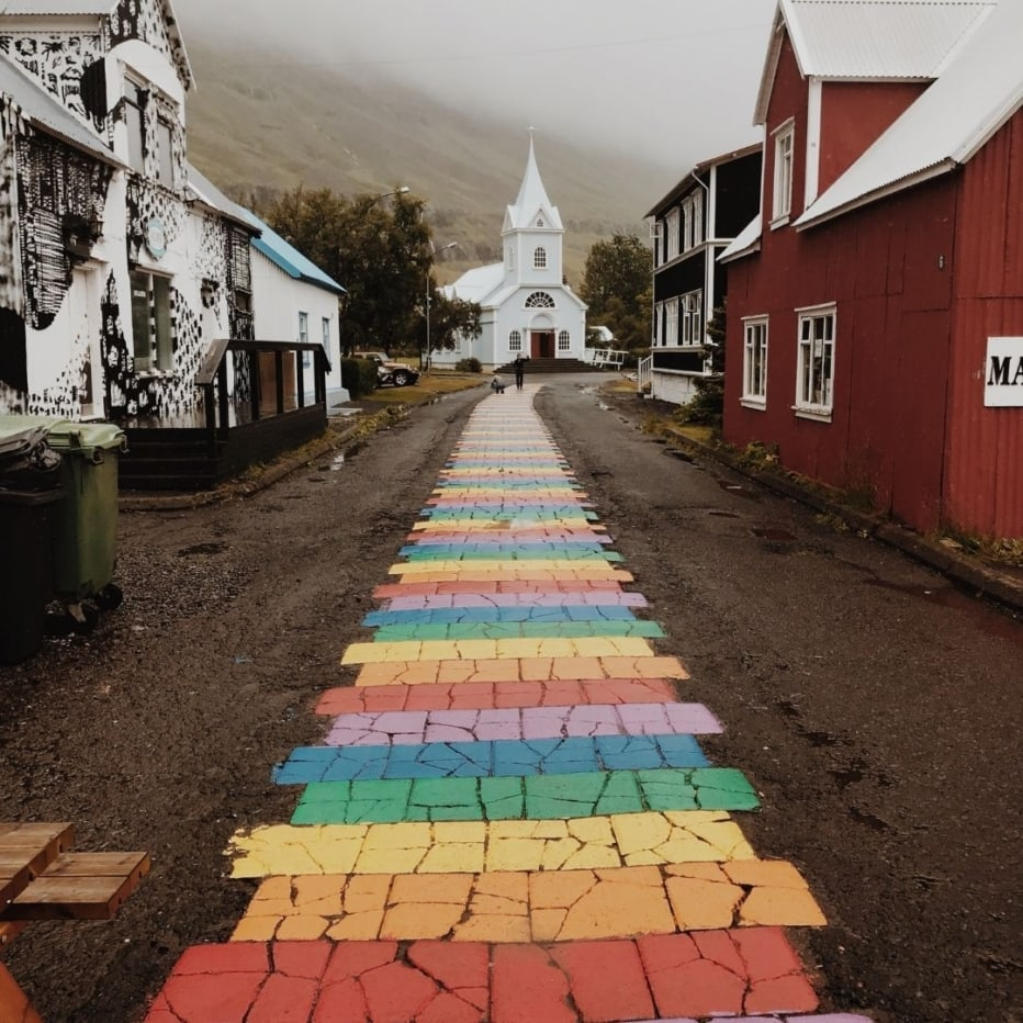 path leading to a church