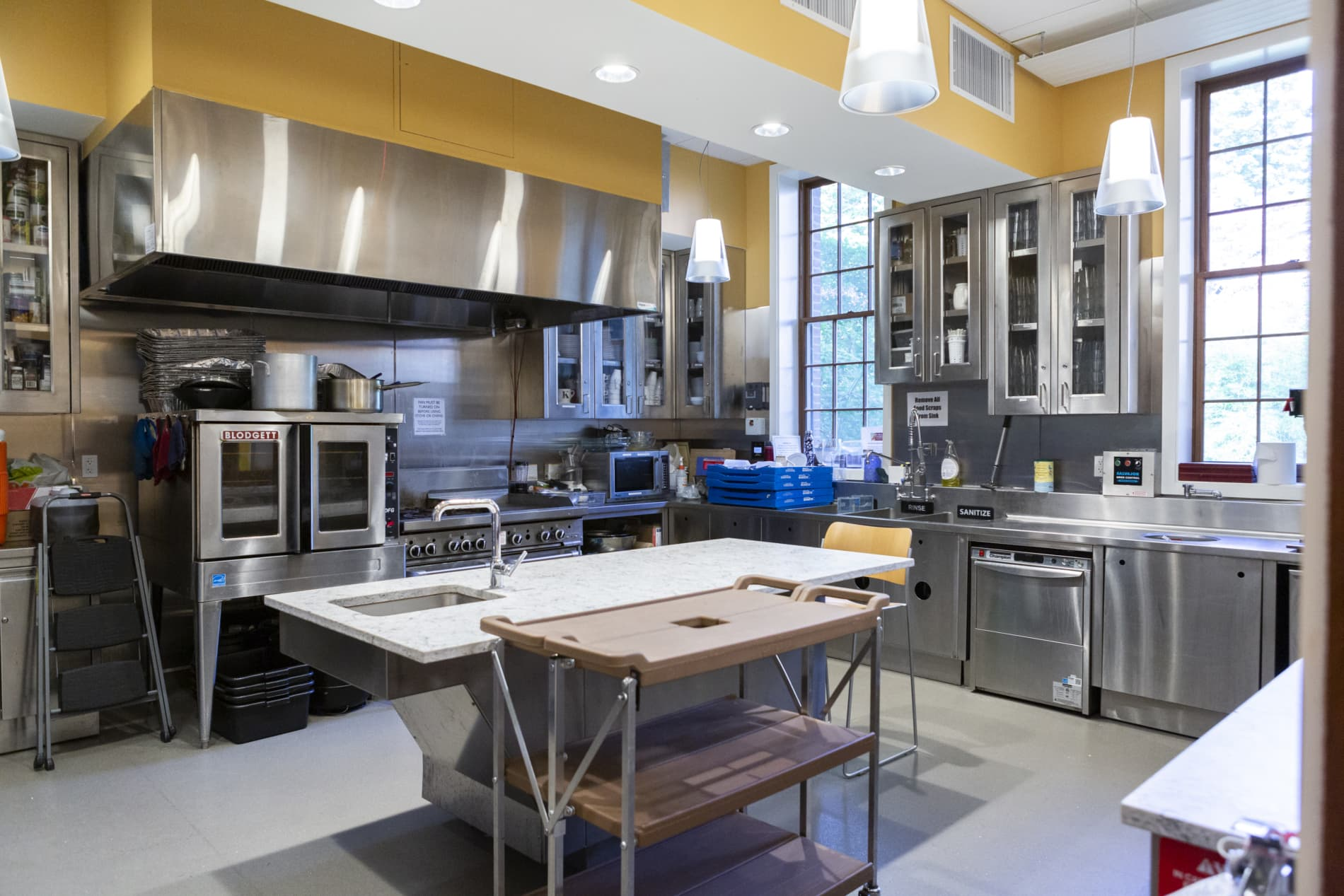 The industrial kitchen of First Church Cambridge