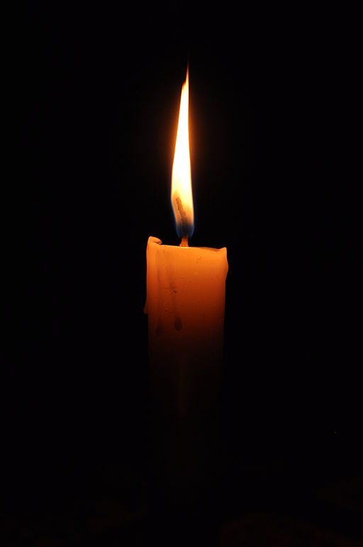 a single lit candle