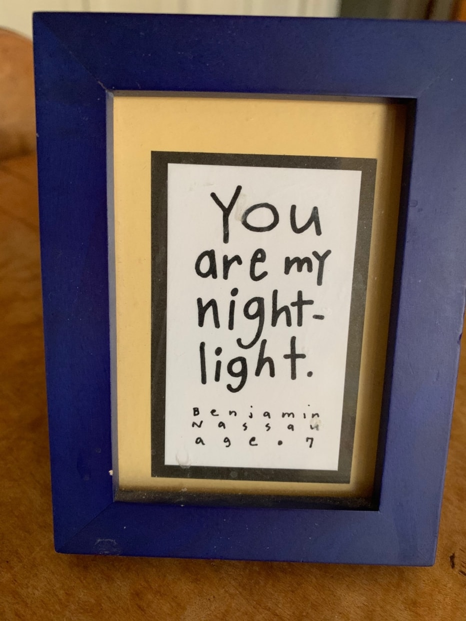 picture frame with the words