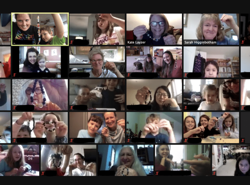 people on a zoom call