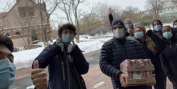 high school students deliver food