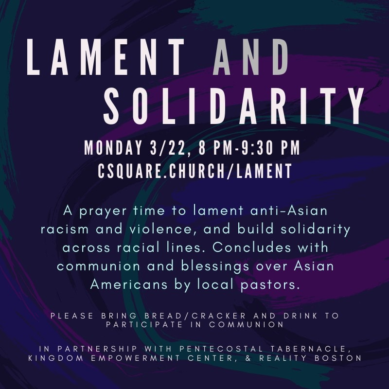 Lament and Solidarity Prayer Time March 22 2021
